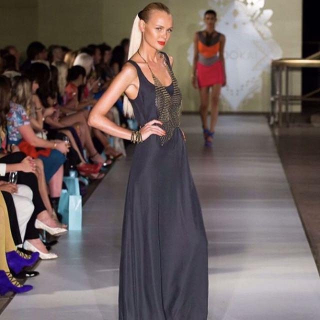 Kookai Silk Maxi Dress