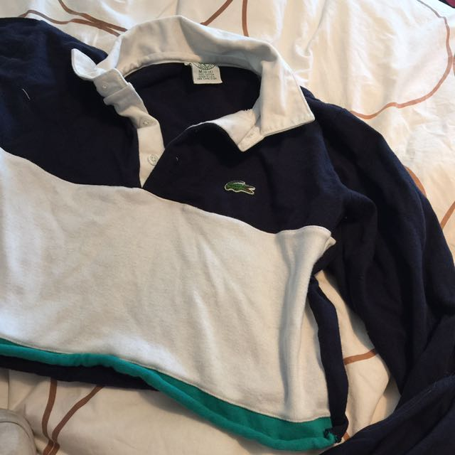 Lacoste Cropped Rugby Sweater