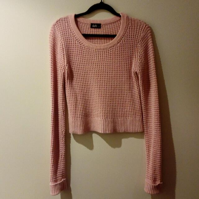 Light Pink Knit Crop Jumper
