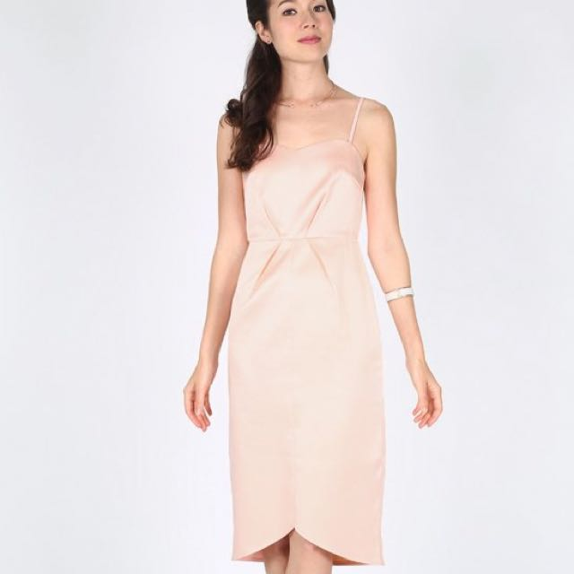 4e3426d7127 BNWT Love Bonito Madge Midi Dress In Blush