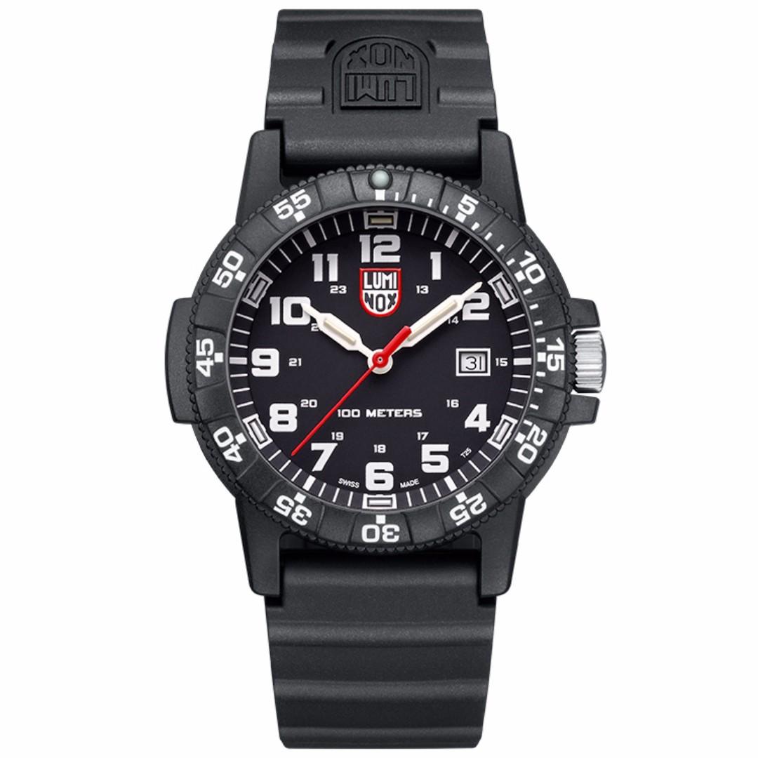 LUMINOX 雷明時SEA TURTLE 0320海龜系列腕錶-黑x白時標/44mm A0321
