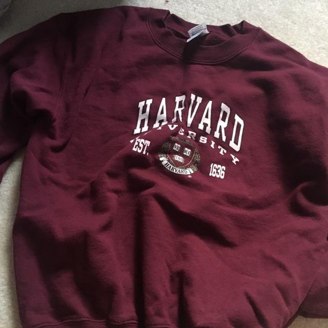 Maroon Harvard Crewneck