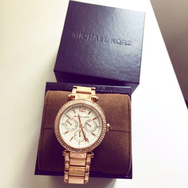 MK 玫瑰金錶