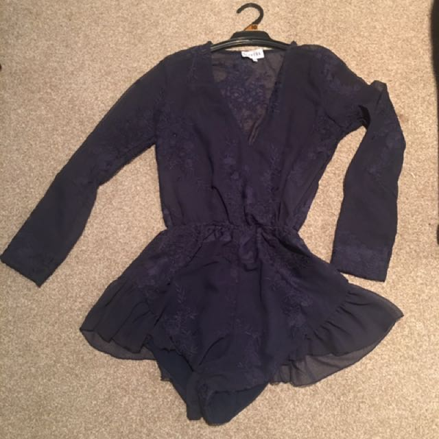 Navy Lioness Playsuit