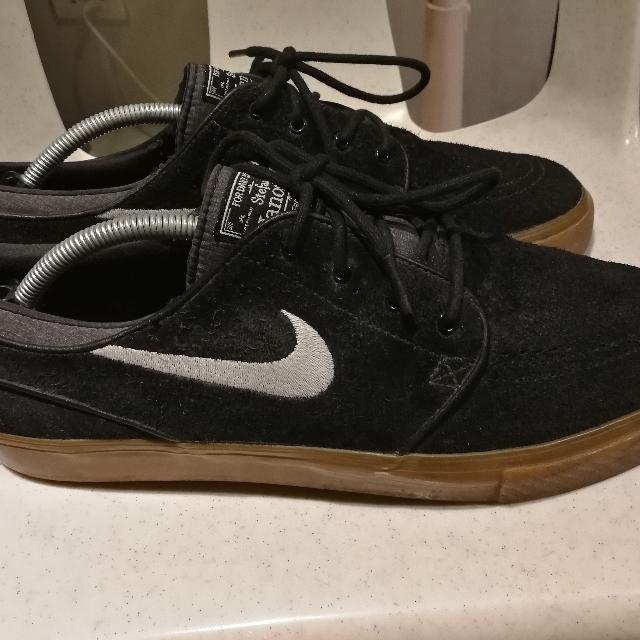 b57d832b814db Nike SB Zoom Stefan Janoski Black White-Gum