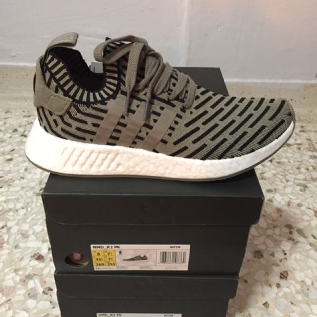 huge selection of cc88a 62687 NMD R2 Olive Green, Men s Fashion, Footwear on Carousell
