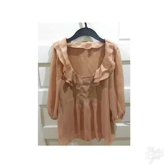 Nude Color Blouse