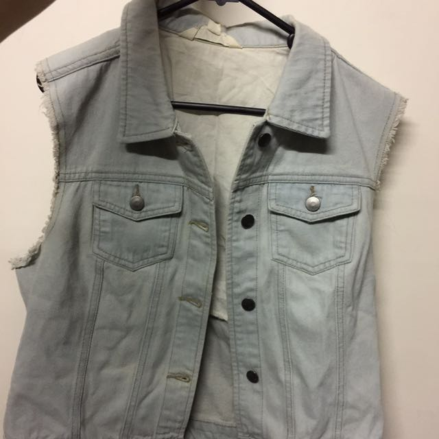 Open Sleeved Denim Outer Top
