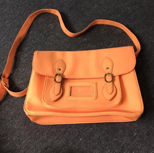 Orange Typo Bag