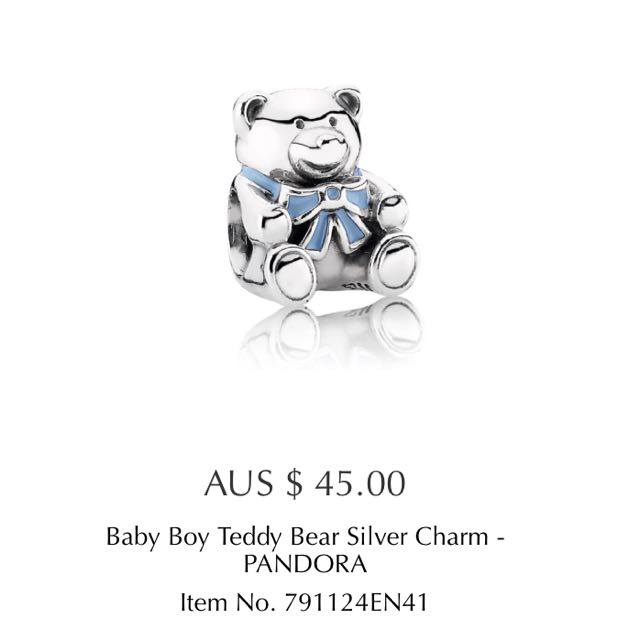 Pandora Baby Boy Teddy Bear Charm