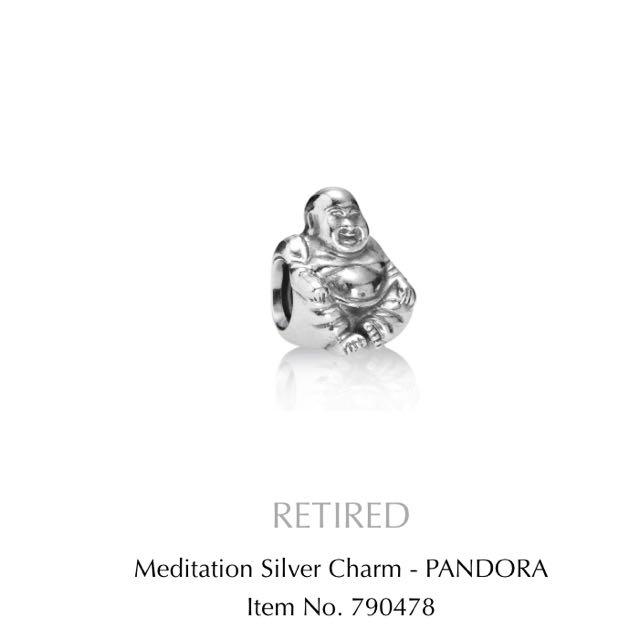 Pandora Meditation Silver Charm
