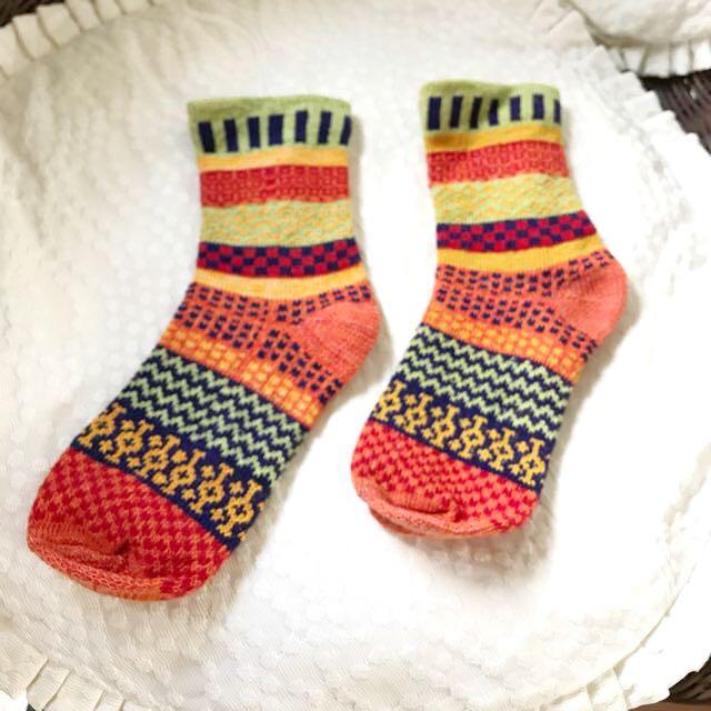 全新!復古款民族Pattern彩色襪