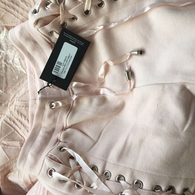 PLT pink Lace Trackies (SIZE 4)