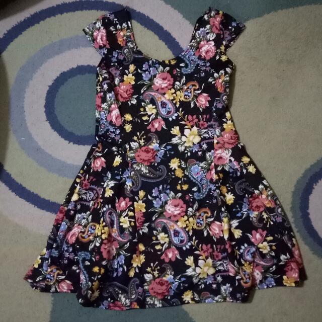 REPRICED : Preloved Flower Dress