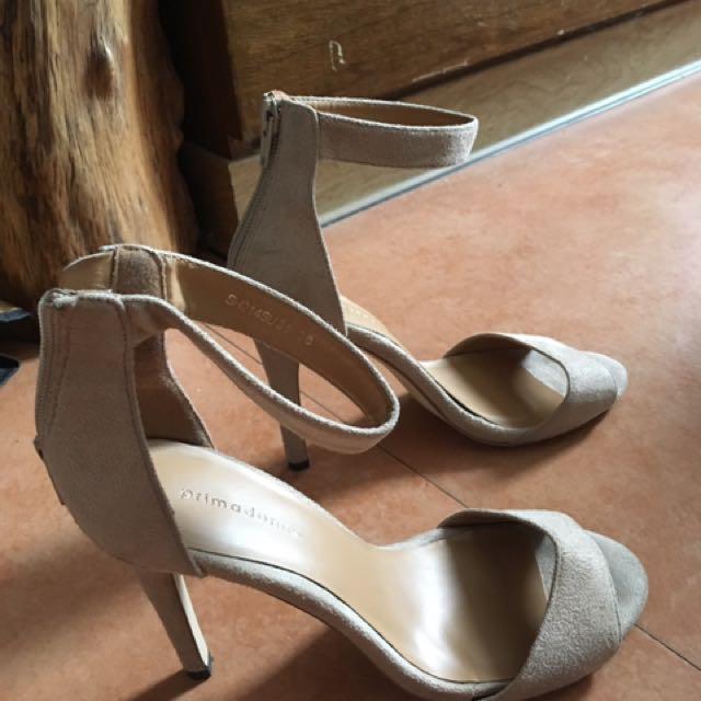 3de80a40846a Primadonna Nude Ankle Strap Heels