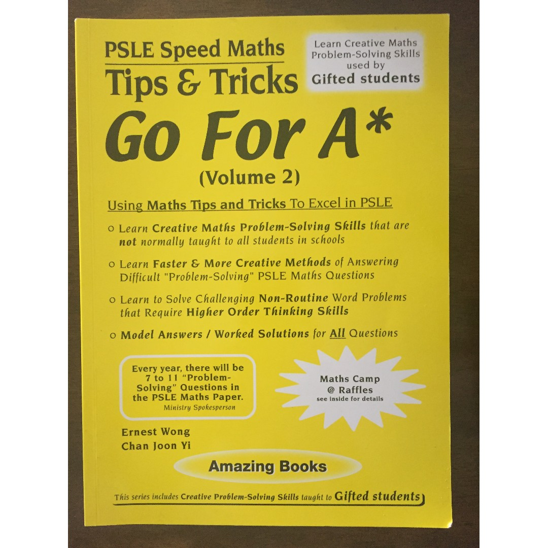 PSLE Speed Maths - Tips & Tricks Go for A*, Textbooks on Carousell