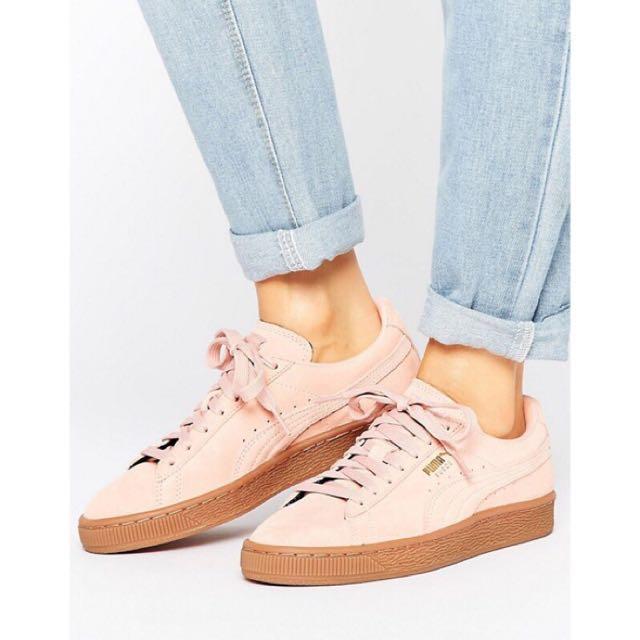 PUMA SUEDE CLASSIC TRAINERS PINK 粉 焦糖底 球鞋 鞋 厚底鞋 rihhana 平民款