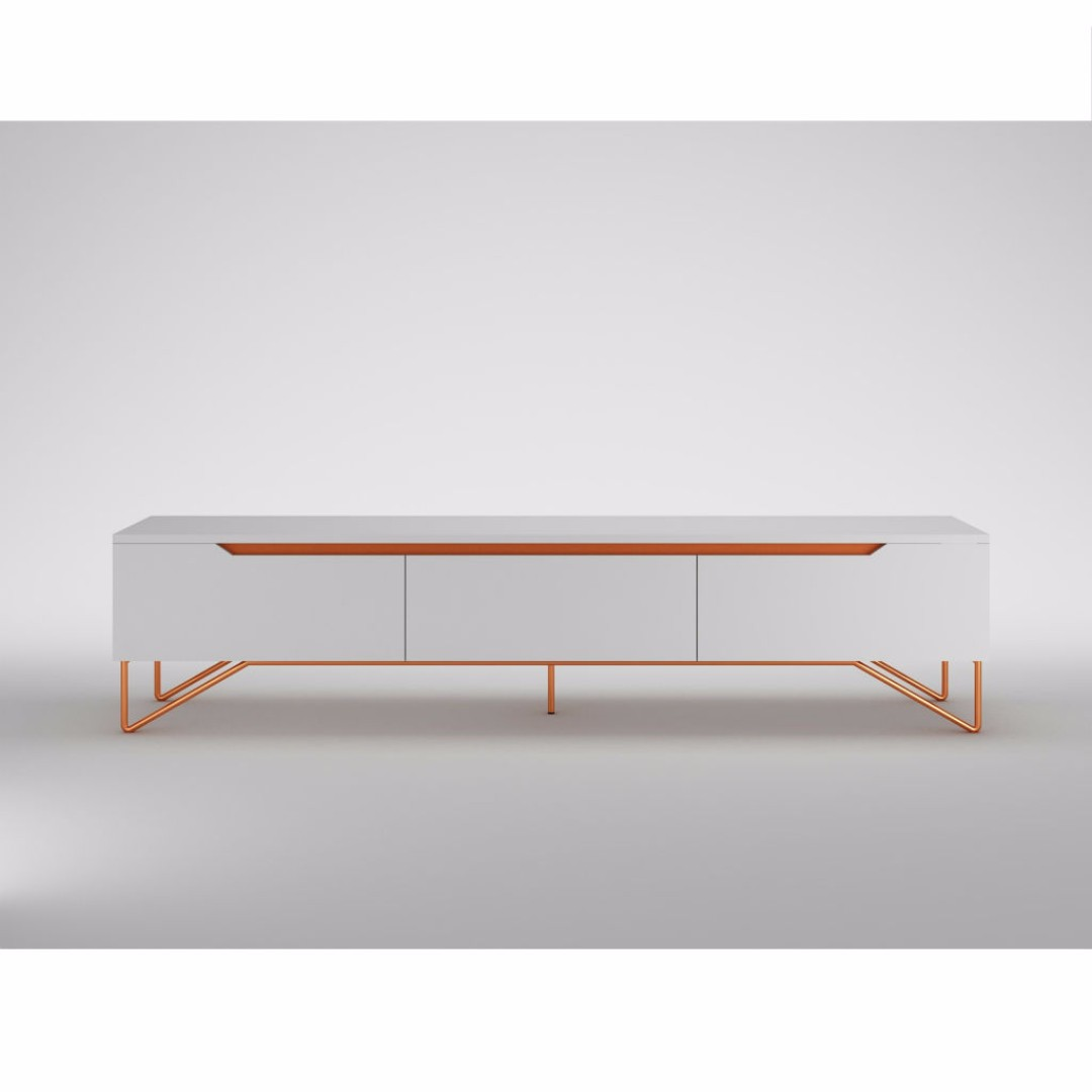 Furniture Puravia Tv Stand With Metal Leg