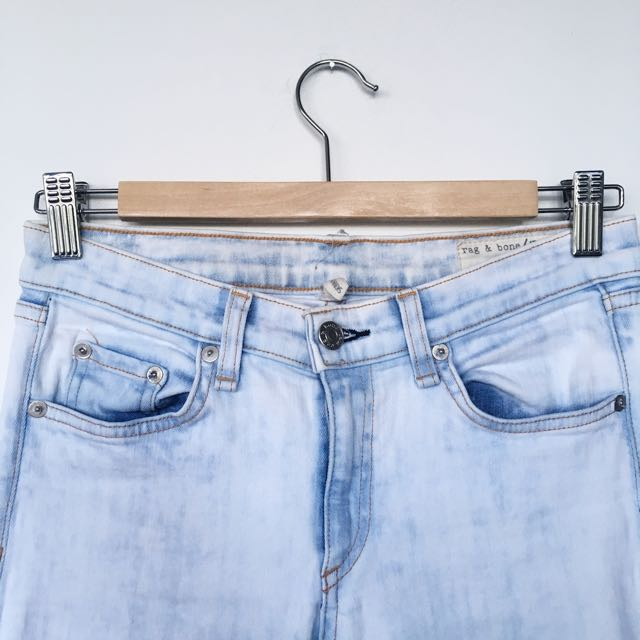 Rag & Bone Light Wash Skinny Jeans