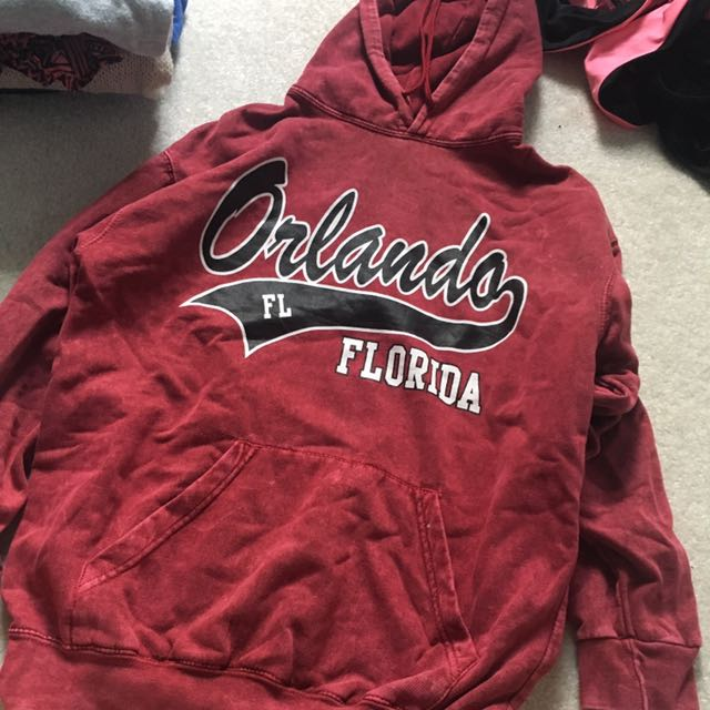 Red Orlando Florida Hoodie