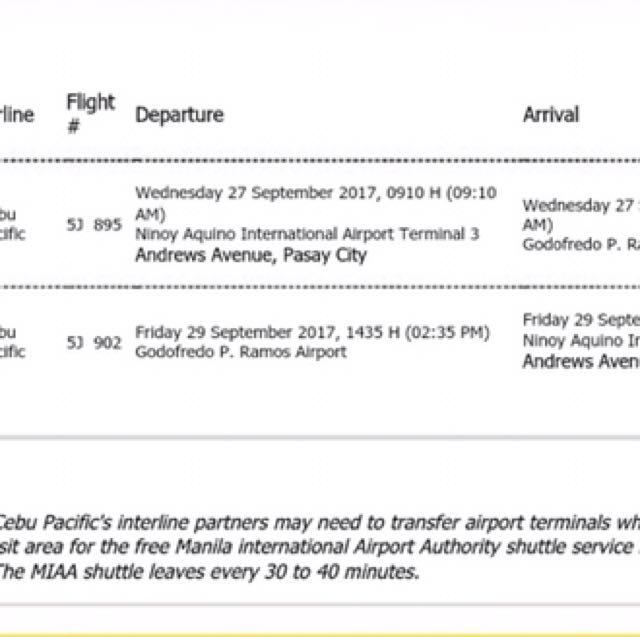 Rountrip ticket to Boracay
