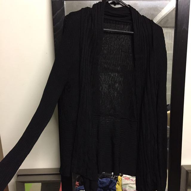 Sheer Black Cardigan