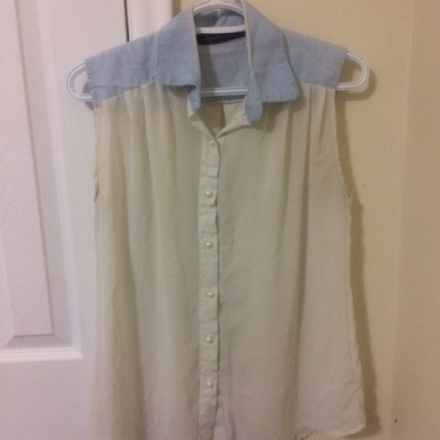 Sleeveless Chiffon Shirt