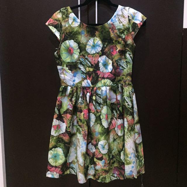 Spring Floral V-Dress