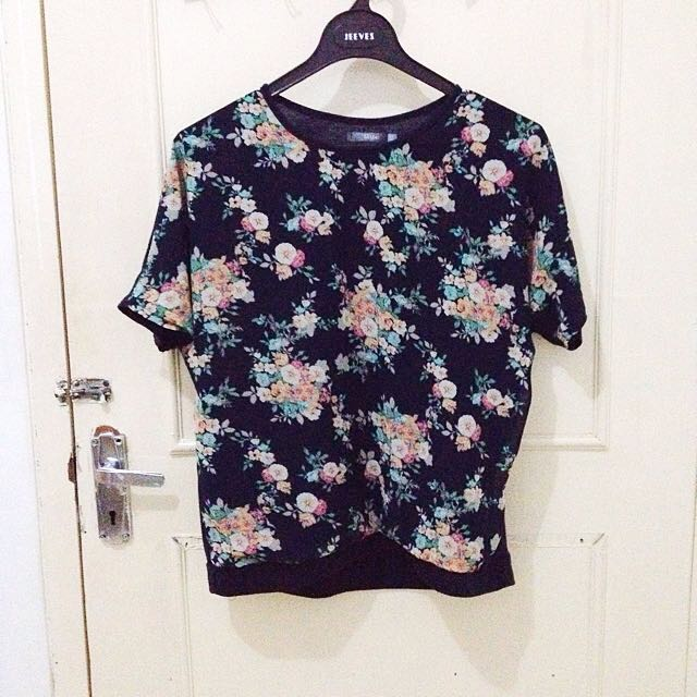 St. Yves Floral Navy Blouse
