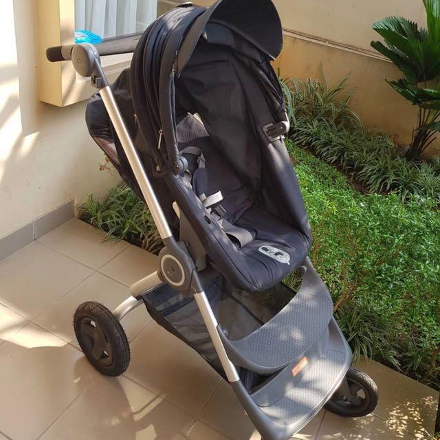 Glimrende Stokke Scoot V2 FREE Soft Bag Bassinet, Babies & Kids, Strollers HL-48
