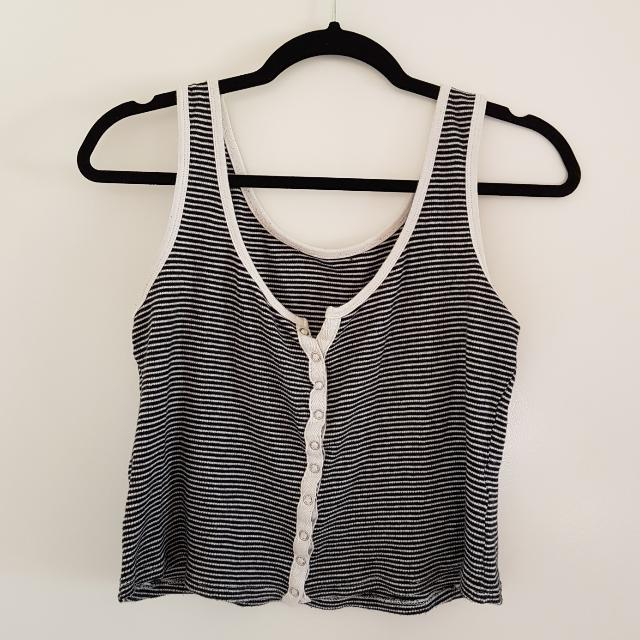 Stripped Cropped Singlet