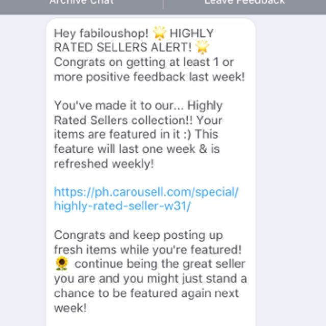 Thank You For Acknowledging Carousell!