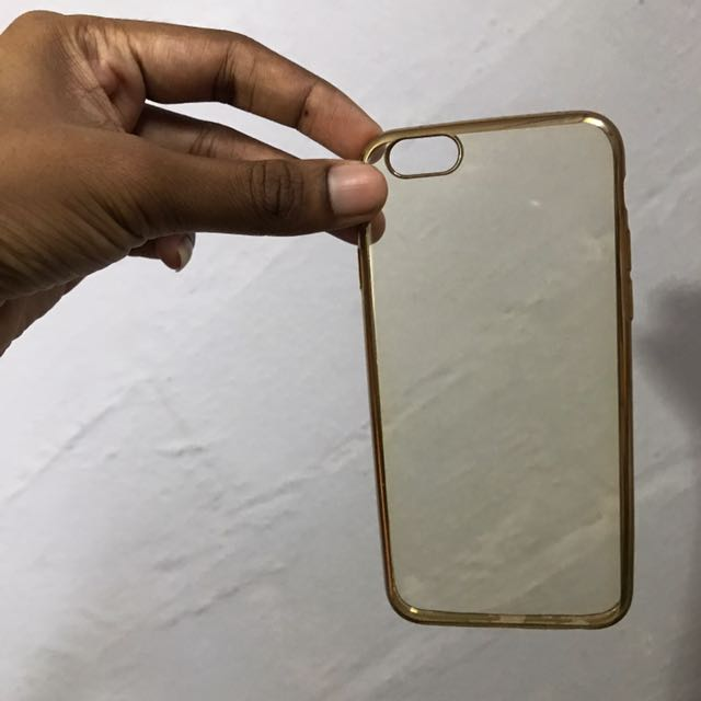 Transparent Case For IPhone 6/6s With Gold Sides