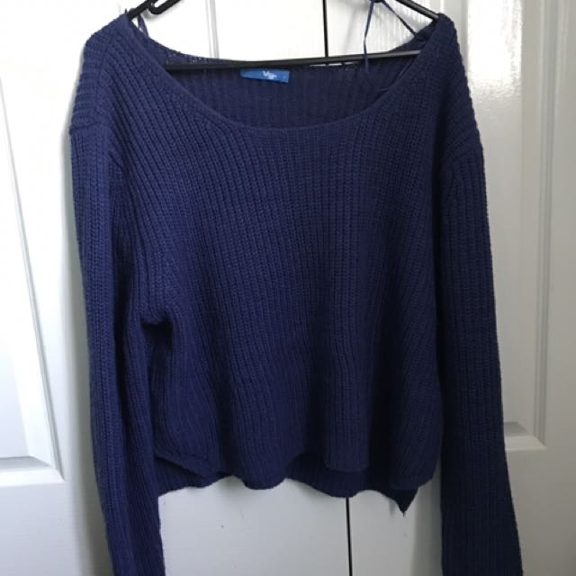 Valley Girl Dark Blue Knit Jumper