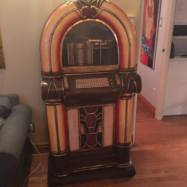 Vintage Jukebox Shelving Unit