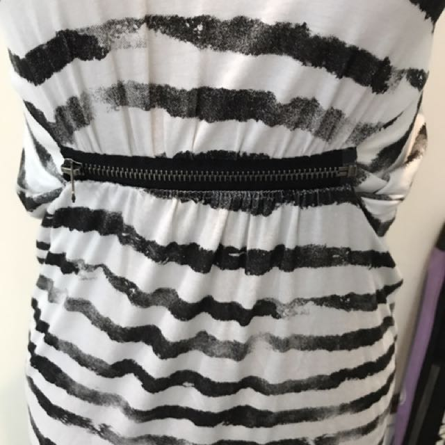 Wayne Jnr Black And White Dress