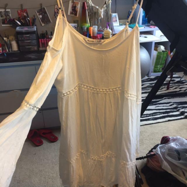 White Bluenotes Sundress Dress