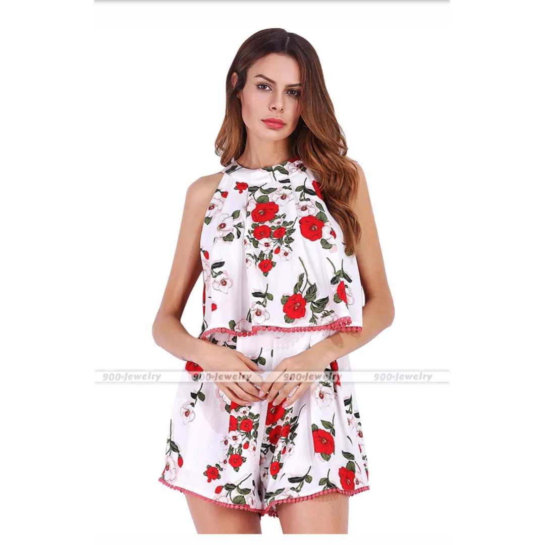 353ce445ae24 Women Chiffon Clubwear Summer Playsuit Bodycon Party Jumpsuit Romper ...