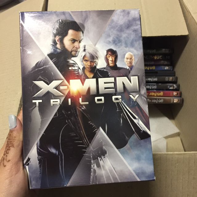 X Men Trilogy + X Men First Class DVDs