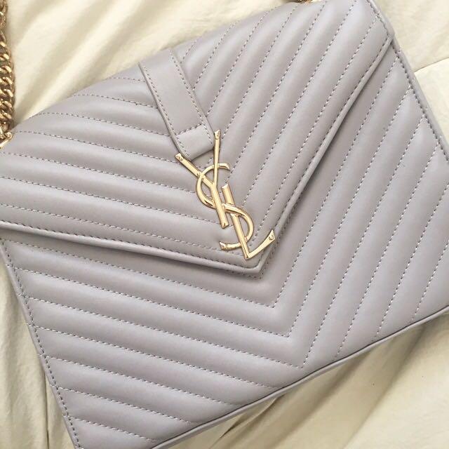 YSL Grey Handbag / Cross Body Bag