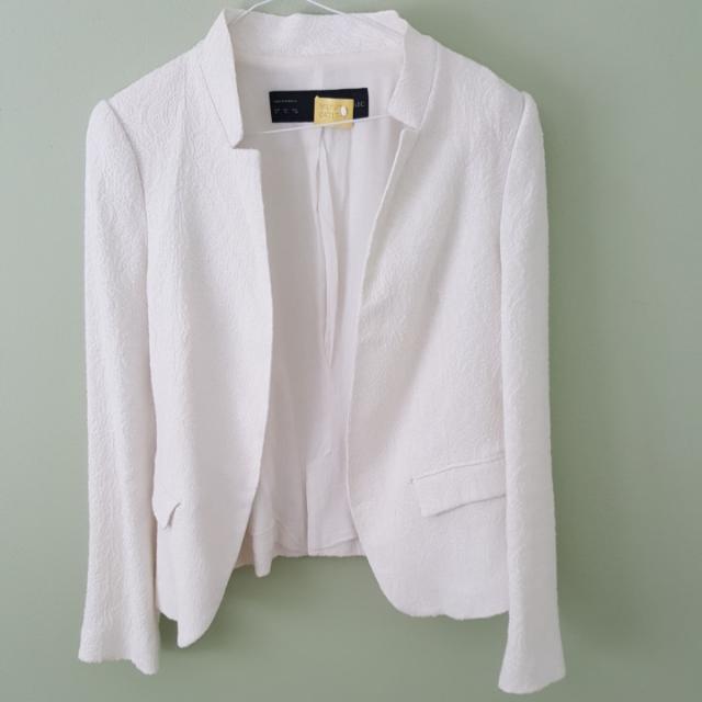 Zara white lace blazer - medium