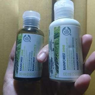 The Body Shop Shampoo & Conditioner Rainforest Shine