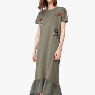 Mango Eme-A Decorative Patches Dress