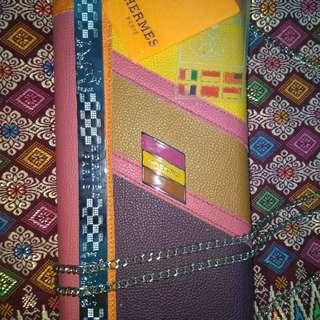 Passport Sling Clutch HERMES Happiness orange [5 Fungsi]