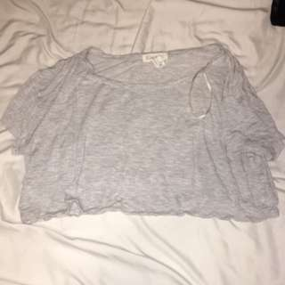 Grey Forever 21 Crop Top