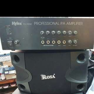 200watts Power Amplifier PA Mono..w/ Rosa Spk