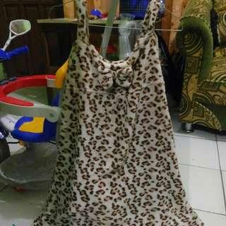 Barter *dres Leopard Bulu Tebal