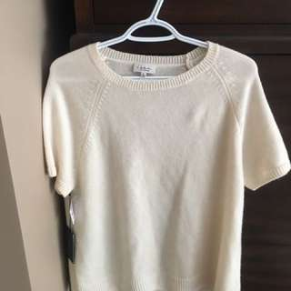 Off White Babaton (aritzia) Cashmere ss Sweater