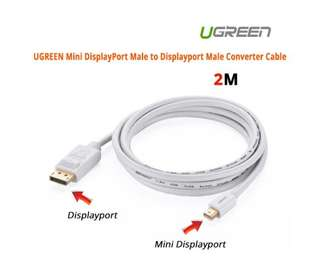 UGREEN Mini DisplayPort Male to Displayport Male Converter Cable 10408