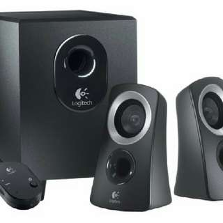 Like-new Logitech speaker system (with video demo)
